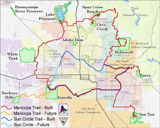 Maricopa Trail Maps Maricopa County Parks Recreation